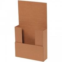 "Easy-Fold Mailers, Kraft, 7 1/2 x 7 1/2"", Multi-Depth Heights of 1/2, 1, 2"""