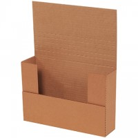 "Easy-Fold Mailers, Kraft, 9 5/8 x 6 5/8"", Multi-Depth Heights of 1/2, 1, 1 1/2, 2, 2 1/2"""