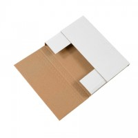 """Easy-Fold Mailers, White, 12 1/8 x 9 1/8"""", Multi-Depth Heights of 1/2, 2, 2 1/2, 3"""""""