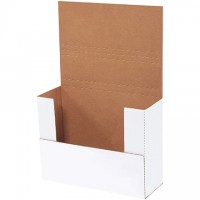 """Easy-Fold Mailers, White, 11 1/8 x 8 5/8"""", Multi-Depth Heights of 1/2, 3, 3 1/2, 4"""""""