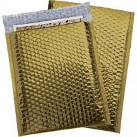 Glamour Bubble Mailers, Gold, 9 x 11 1/2""