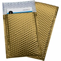 Glamour Bubble Mailers, Gold, 7 1/2 x 11""