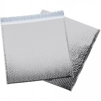 Glamour Bubble Mailers, Silver, 16 x 17 1/2""