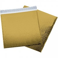 Glamour Bubble Mailers, Gold, 16 x 17 1/2""