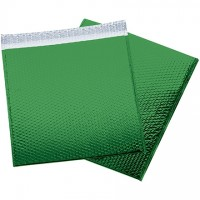 Glamour Bubble Mailers, Green, 16 x 17 1/2""