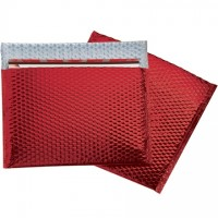 Glamour Bubble Mailers, Red, 13 3/4 x 11""