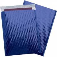 Glamour Bubble Mailers, Blue, 13 x 17 1/2""