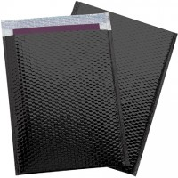 Glamour Bubble Mailers, Black, 13 x 17 1/2""