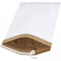"Padded Mailers, #6, 12 1/2 x 19"", White, Self-Seal"