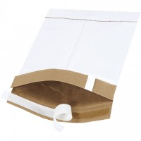 "Padded Mailers, #0, 6 x 10"", White, Self-Seal"
