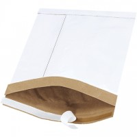 "Padded Mailers, #2, 8 1/2 x 12"", White, Self-Seal"