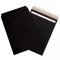 "Flat Mailers, Self-Seal, 13 x 18"", Black"