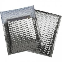"""Glamour Bubble Mailers, Silver, 7 x 6 3/4"""""""