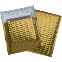 Glamour Bubble Mailers, Gold, 7 x 6 3/4""