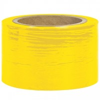 "Yellow Bundling Stretch Film, 80 Gauge, 3"" x 1000'"