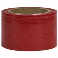 "Red Bundling Stretch Film, 80 Gauge, 3"" x 1000'"