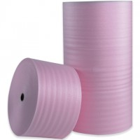 "Anti-Static Shipping Foam Rolls, 1/8"" Thick, 24"" x 550', Non-Perforated"