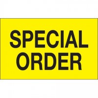 "Fluorescent Yellow ""Special Order"" Production Labels, 1 1/4 x 2"""