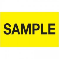"Fluorescent Yellow ""Sample"" Production Labels, 3 x 5"""