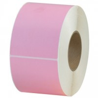 Pink Thermal Transfer Labels, 4 x 6""