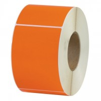 Orange Thermal Transfer Labels, 4 x 6""