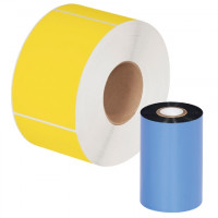 "Black Datamax Thermal Transfer Ribbons, Wax/Resin, 4.02"" x 1181'"