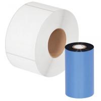 "Black Datamax Thermal Transfer Ribbons, Wax, 4.50"" x 1181'"