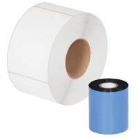 "Black Datamax Thermal Transfer Ribbons, Wax, 3.00"" x 1181'"