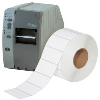White Industrial Direct Thermal Labels, 4 x 2""