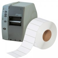 White Industrial Direct Thermal Labels, 4 x 1 1/2""
