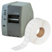 White Industrial Direct Thermal Labels, 2 1/4 x 1 1/4""