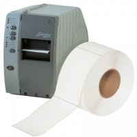 White Thermal Transfer Labels - No Perforations, 4 x 6""
