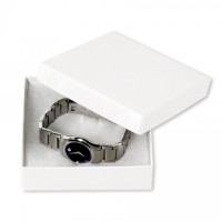 Chipboard Boxes, Gift, Jewelry, White, 3 1/2 x 3 1/2 x 1""