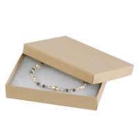 Chipboard Boxes, Gift, Jewelry, Kraft, 5 1/4 x 3 3/4 x 7/8""