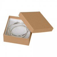 Chipboard Boxes, Gift, Jewelry, Kraft, 3 1/2 x 3 1/2 x 1 1/2""