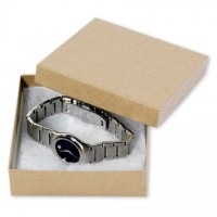 "Chipboard Boxes, Gift, Jewelry, Kraft, 3 1/2 x 3 1/2 x 1"""