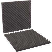 "Charcoal Convoluted Foam Sets - 24 x 24 x 2"" , 2 Sheets Per Set"