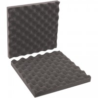"Charcoal Convoluted Foam Sets - 12 x 12 x 2"" , 2 Sheets Per Set"