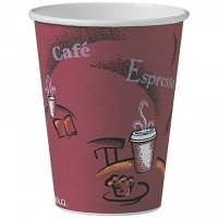 Solo® Paper Hot Cups, Bistro Design, 12 oz.