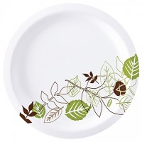 Dixie® Heavy Weight Paper Plates, White, 10 1/4""
