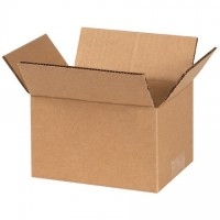 "Corrugated Boxes, 6 x 4 x 3"", Kraft"
