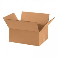"Corrugated Boxes, 11 x 8 x 4"", Kraft, Flat"