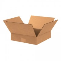 "Corrugated Boxes, 11 x 11 x 3"", Kraft, Flat"