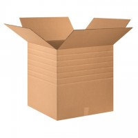 "Single Wall Corrugated Boxes, 24 x 24 x 24"", Multi-Depth, 44 ECT"