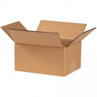 "Corrugated Boxes, 8 x 6 x 4"", Kraft"
