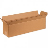 "Corrugated Boxes, 20 x 4 x 4"", Kraft"