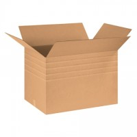 "Single Wall Corrugated Boxes, 30 x 20 x 20"", Multi-Depth, 44 ECT"