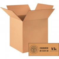 """Weather Resistant Corrugated Boxes, 18 x 18 x 18"""", V3c - 350 #"""