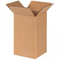 "Corrugated Boxes, 6 x 6 x 10"", Kraft"