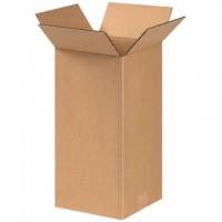 "Corrugated Boxes, 6 x 6 x 14"", Kraft"